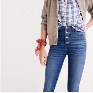 NWT Madewell Jeans Zip Fly Chewed Hem 32 G9219